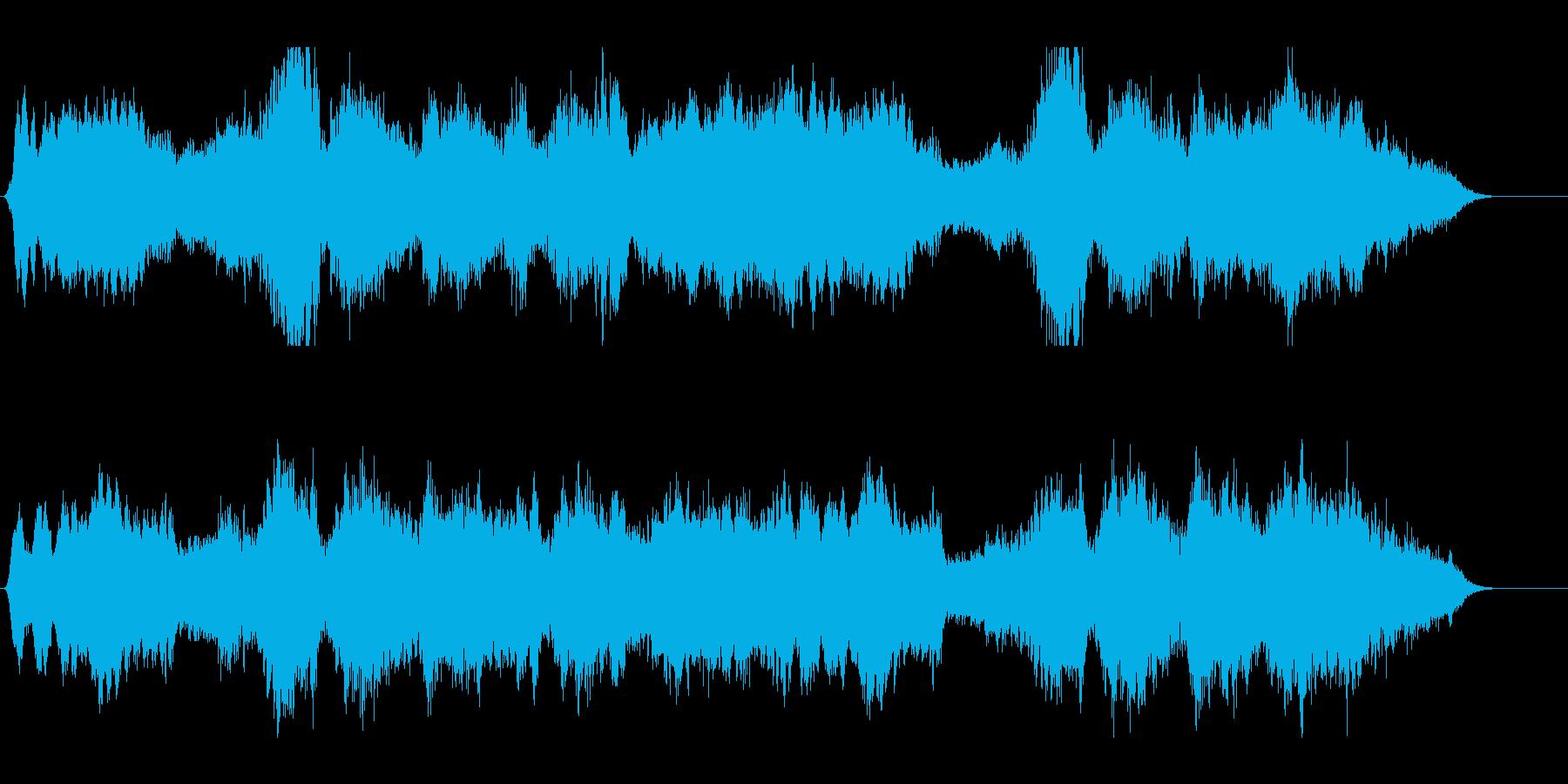 恐怖や不安をあおるホラーBGMの再生済みの波形