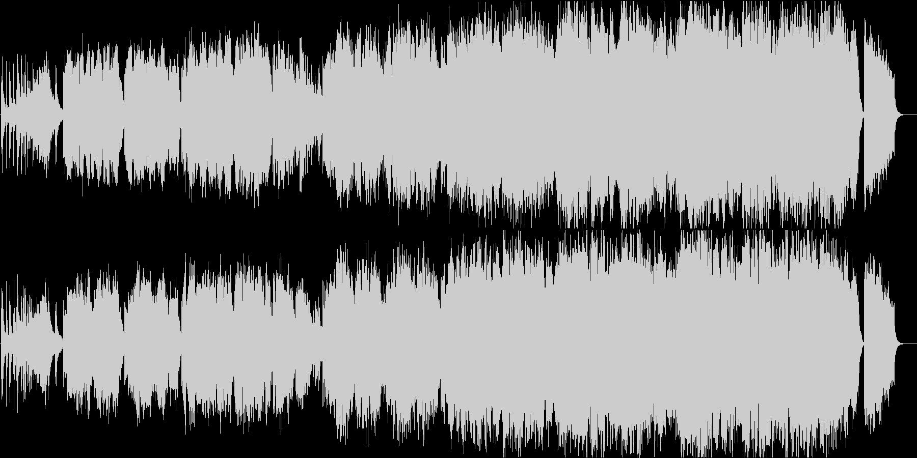 二胡の生演奏が美しい情緒ある和のメロディの未再生の波形