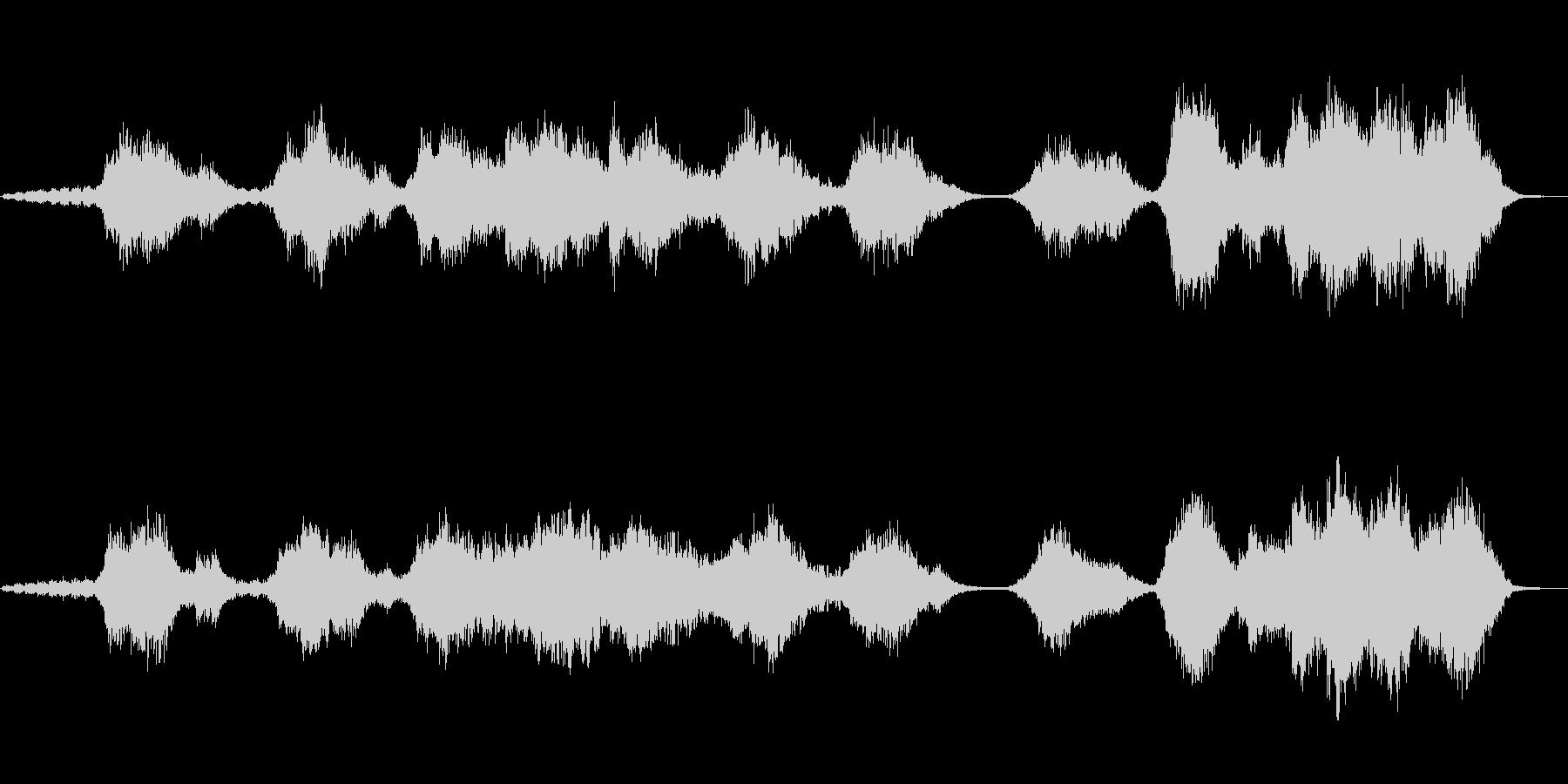 水をイメージしたシンセサイザー音楽の未再生の波形