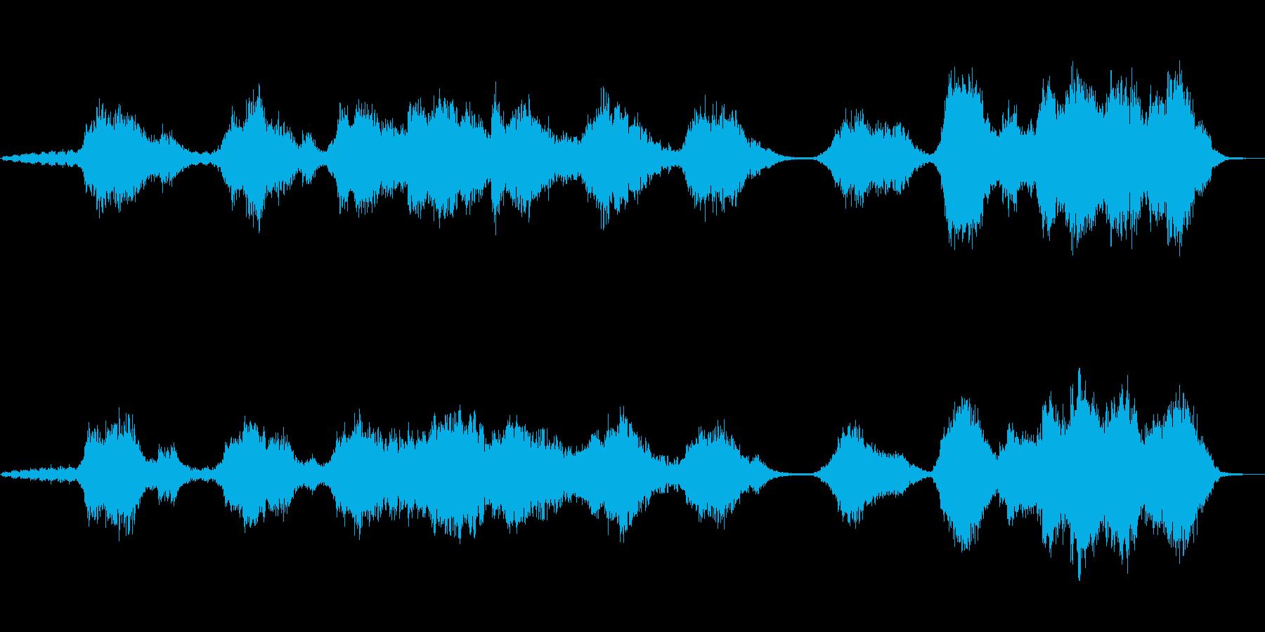 水をイメージしたシンセサイザー音楽の再生済みの波形