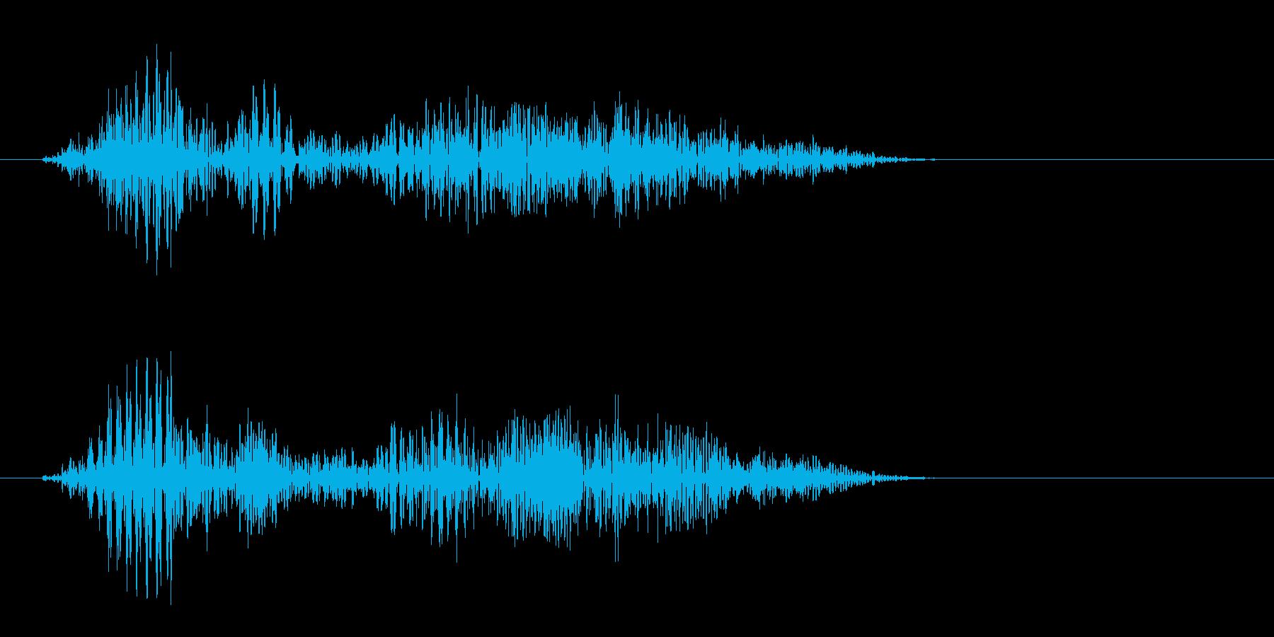 エフェッという強い効果音の再生済みの波形