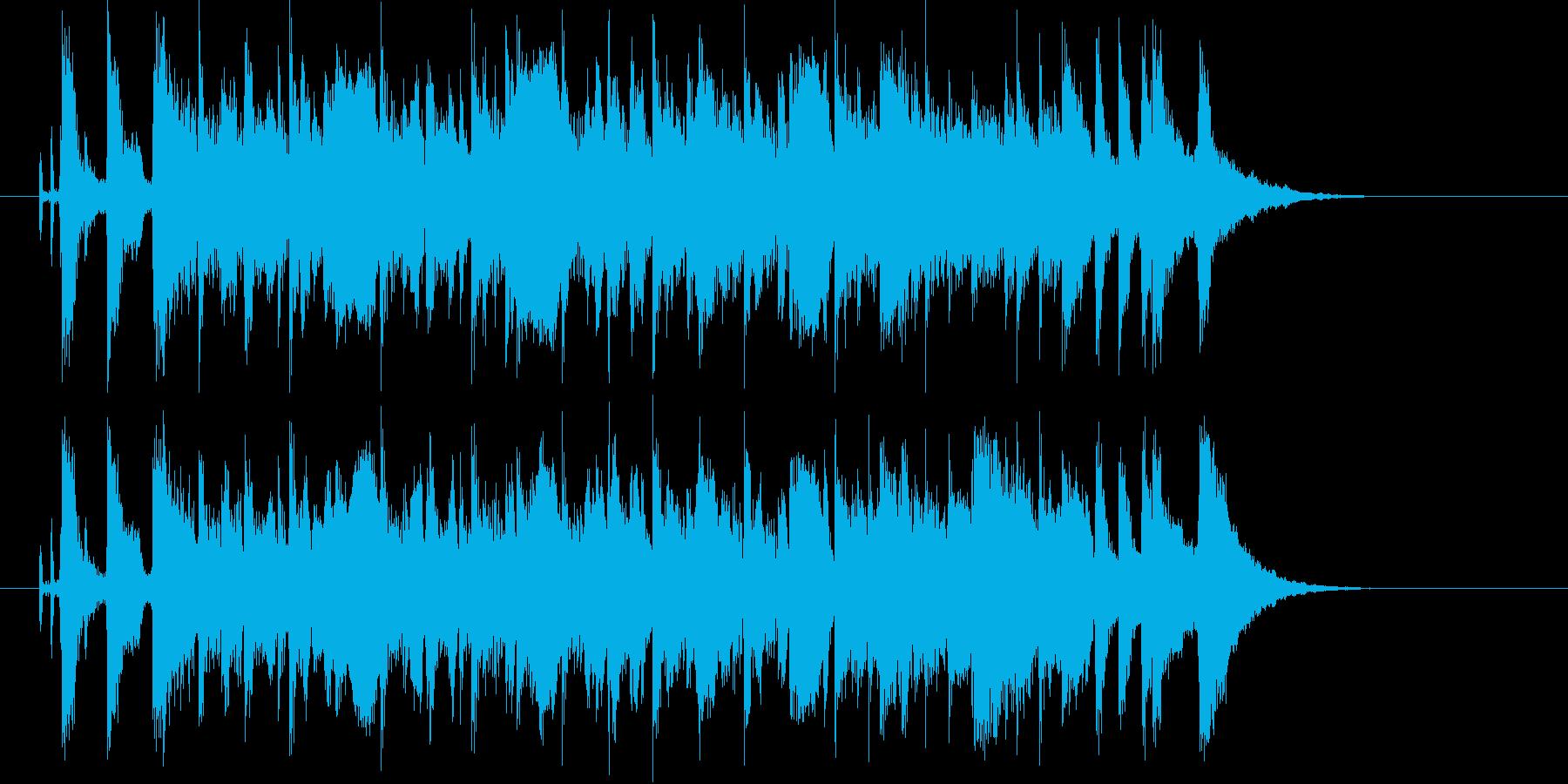 広がりのあるポップな曲の再生済みの波形