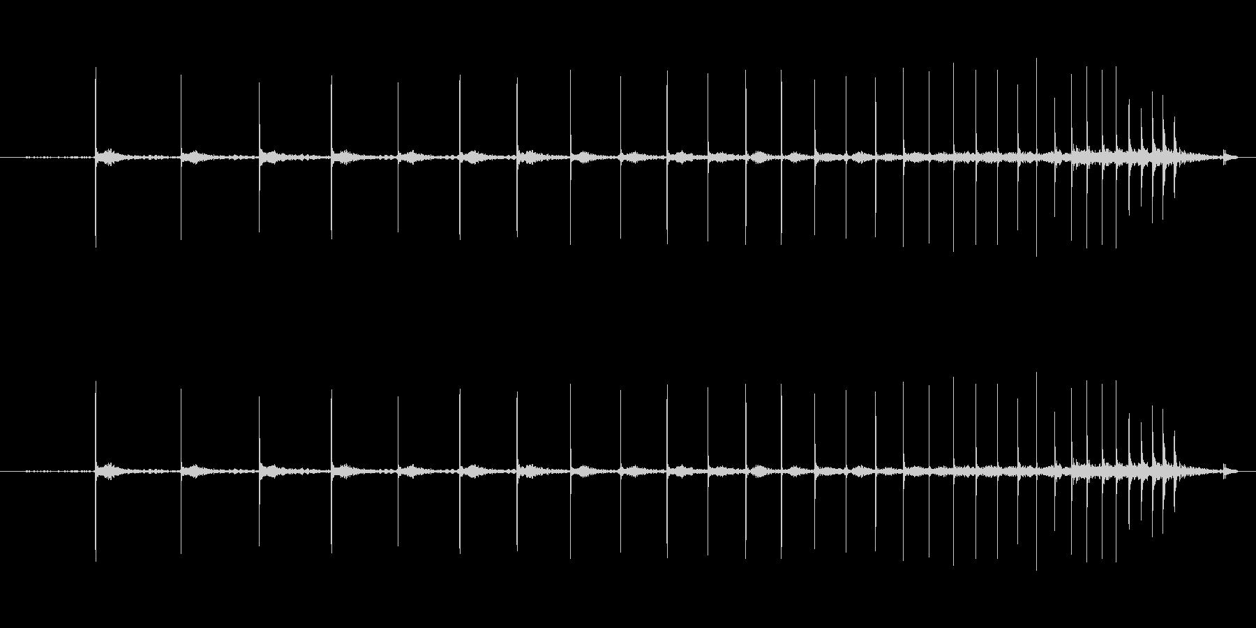 ピンポン玉を転がす音の未再生の波形