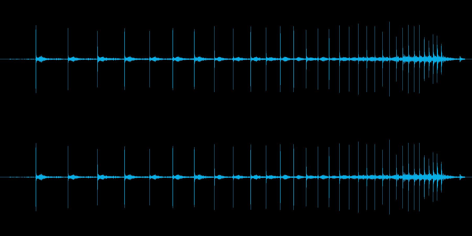 ピンポン玉を転がす音の再生済みの波形