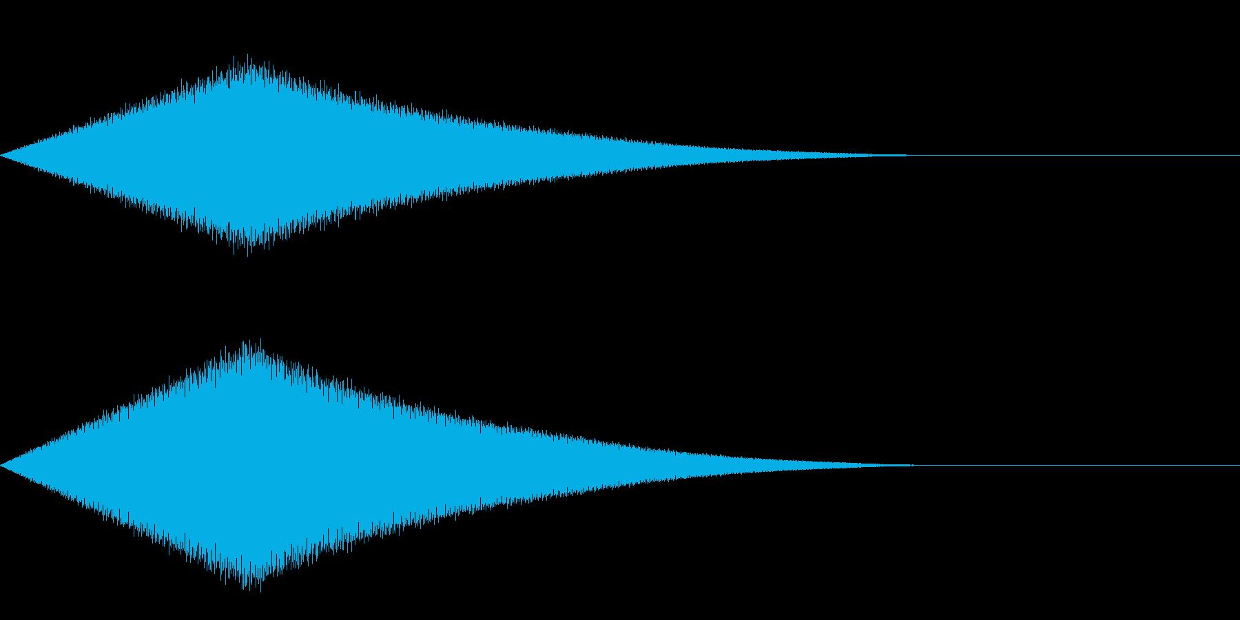 耳鳴り/嫌な気配を感じた時の効果音の再生済みの波形