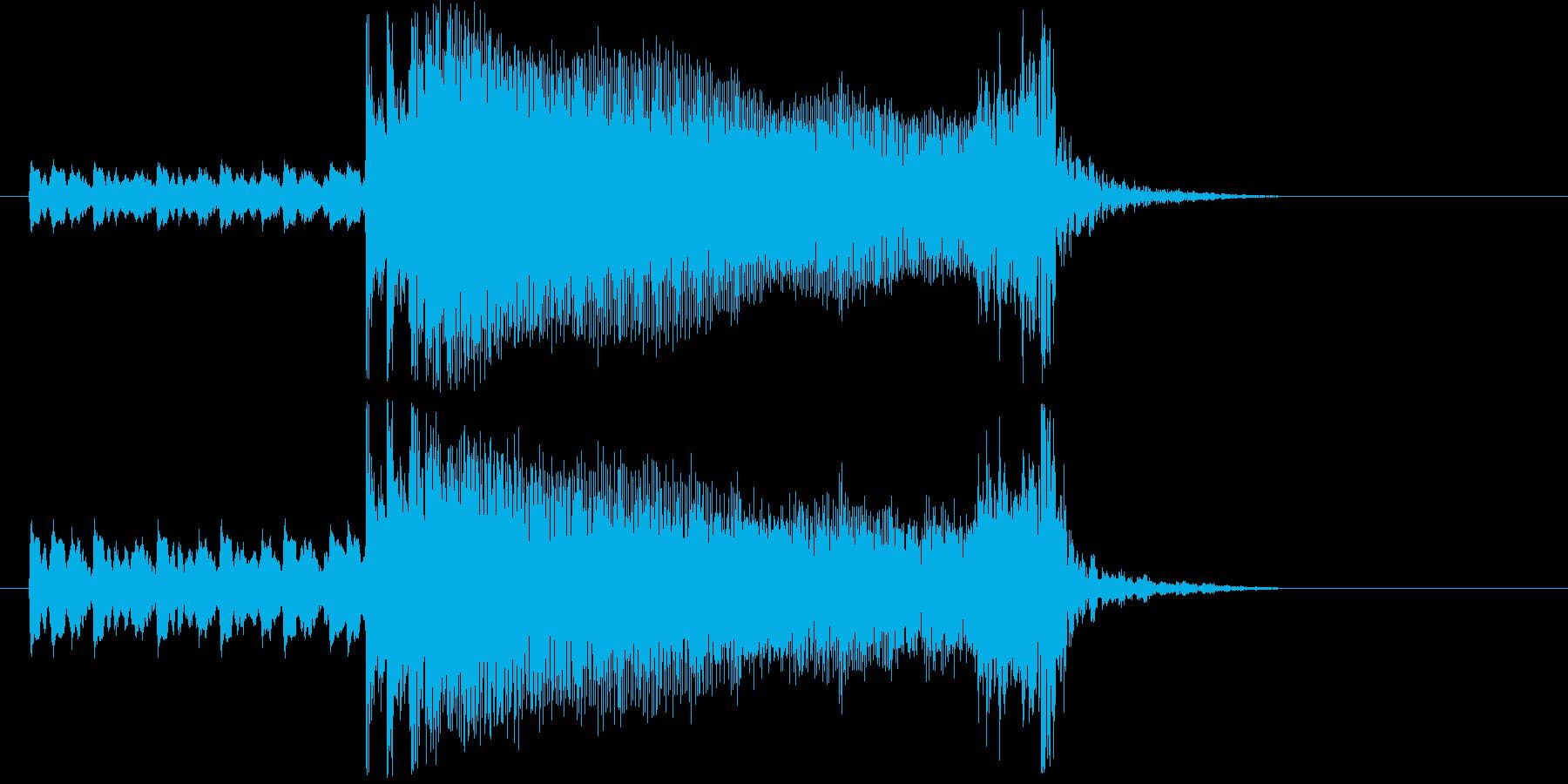 キレイで勢いのあるショートソングの再生済みの波形