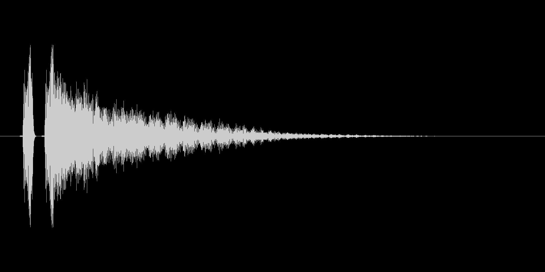 アイテムゲット音、完了音。の未再生の波形