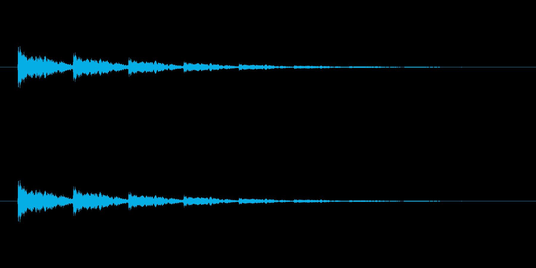 【アクセント11-4】の再生済みの波形