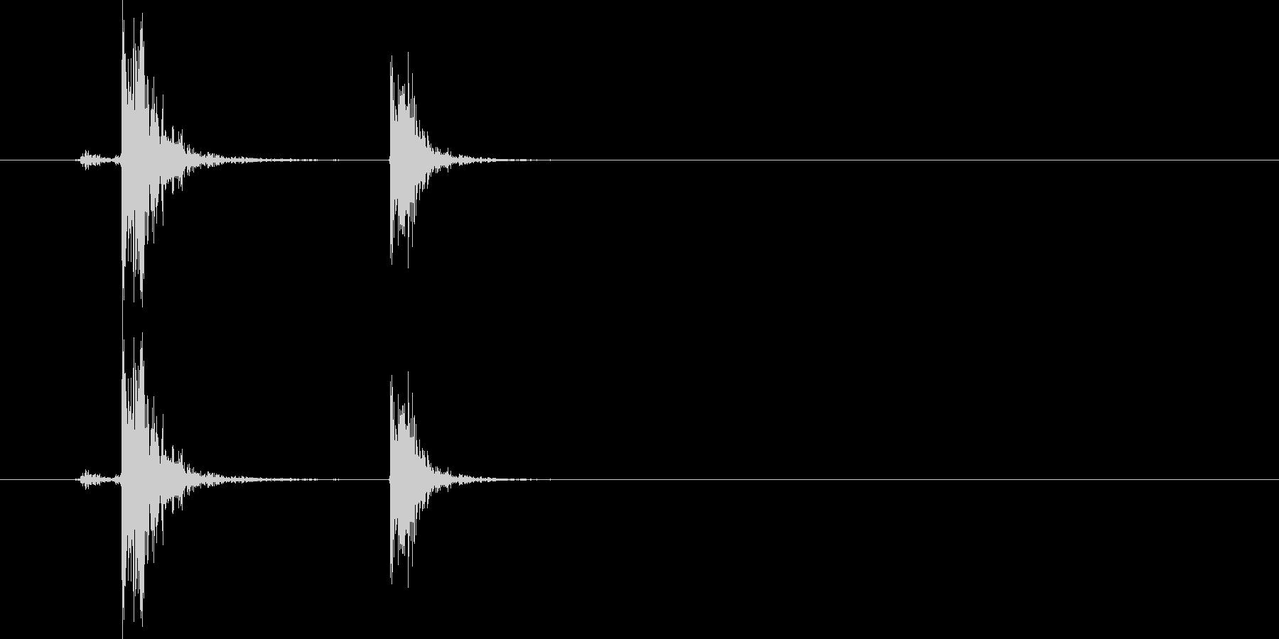 蛍光灯・点ける(ひも式スイッチ)の未再生の波形