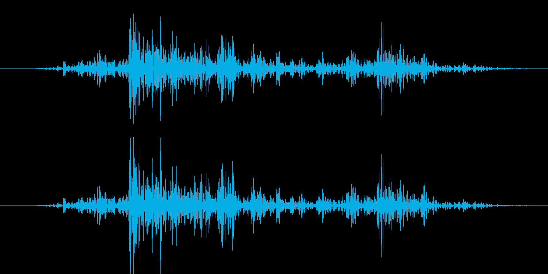 ガタタッ【汎用的な物音】の再生済みの波形