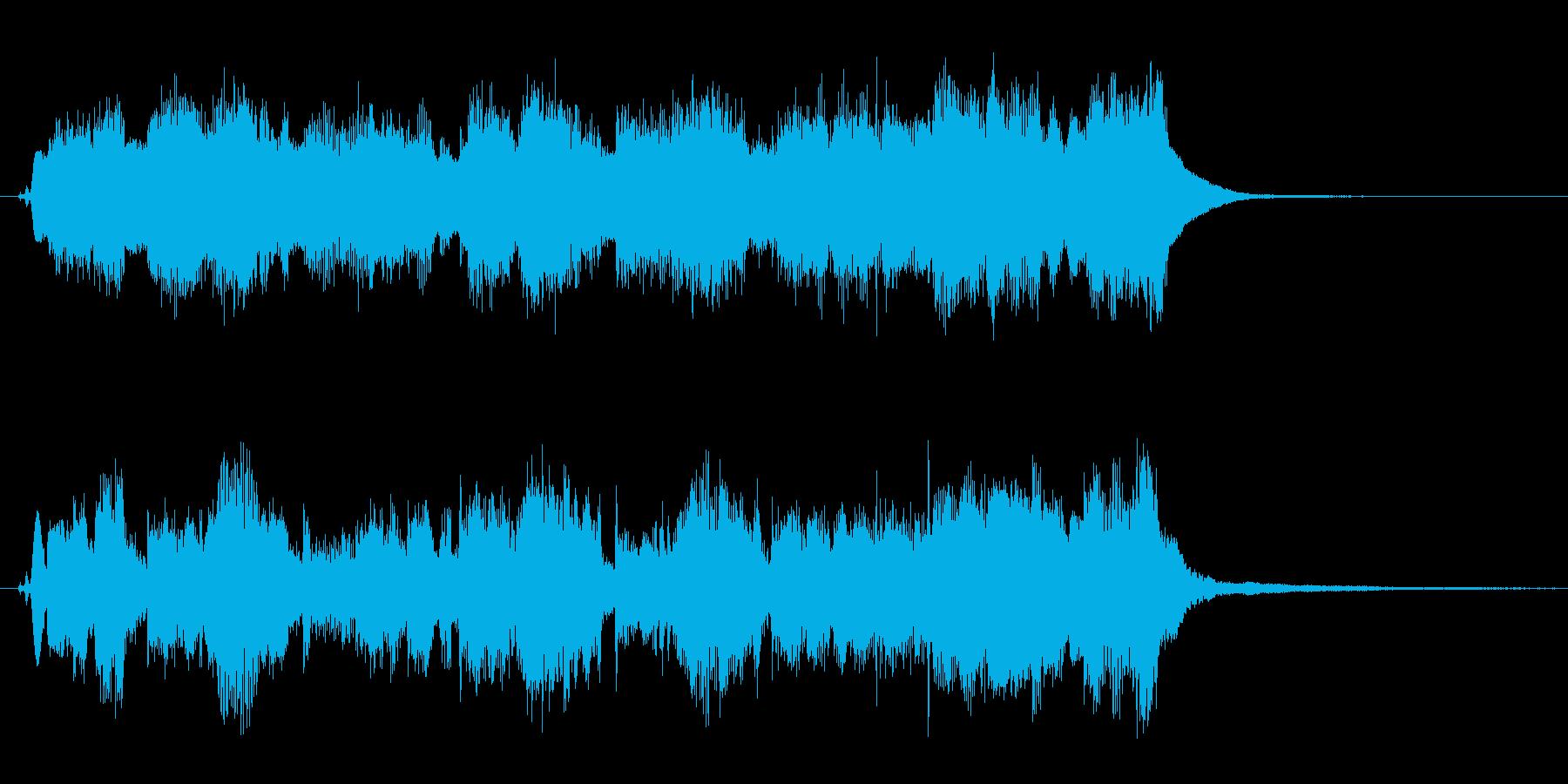 アコーディオンの可愛い10秒のジングルの再生済みの波形