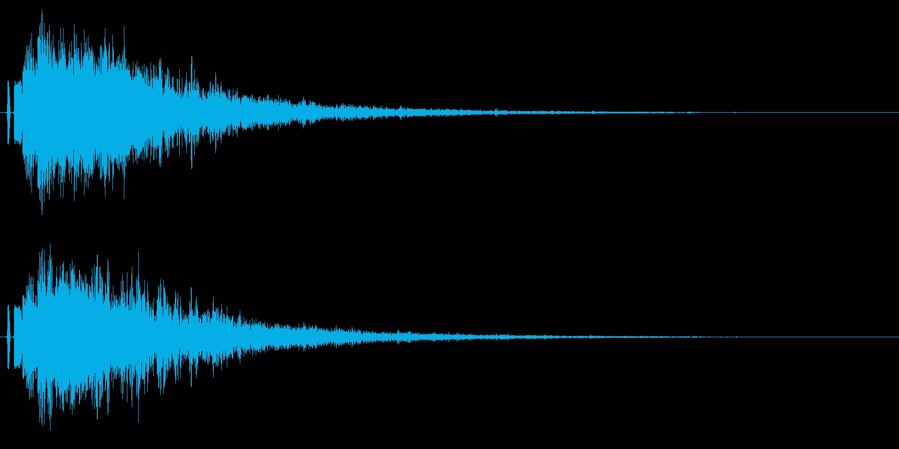 シャキーン!ド派手なインパクトに最適40の再生済みの波形