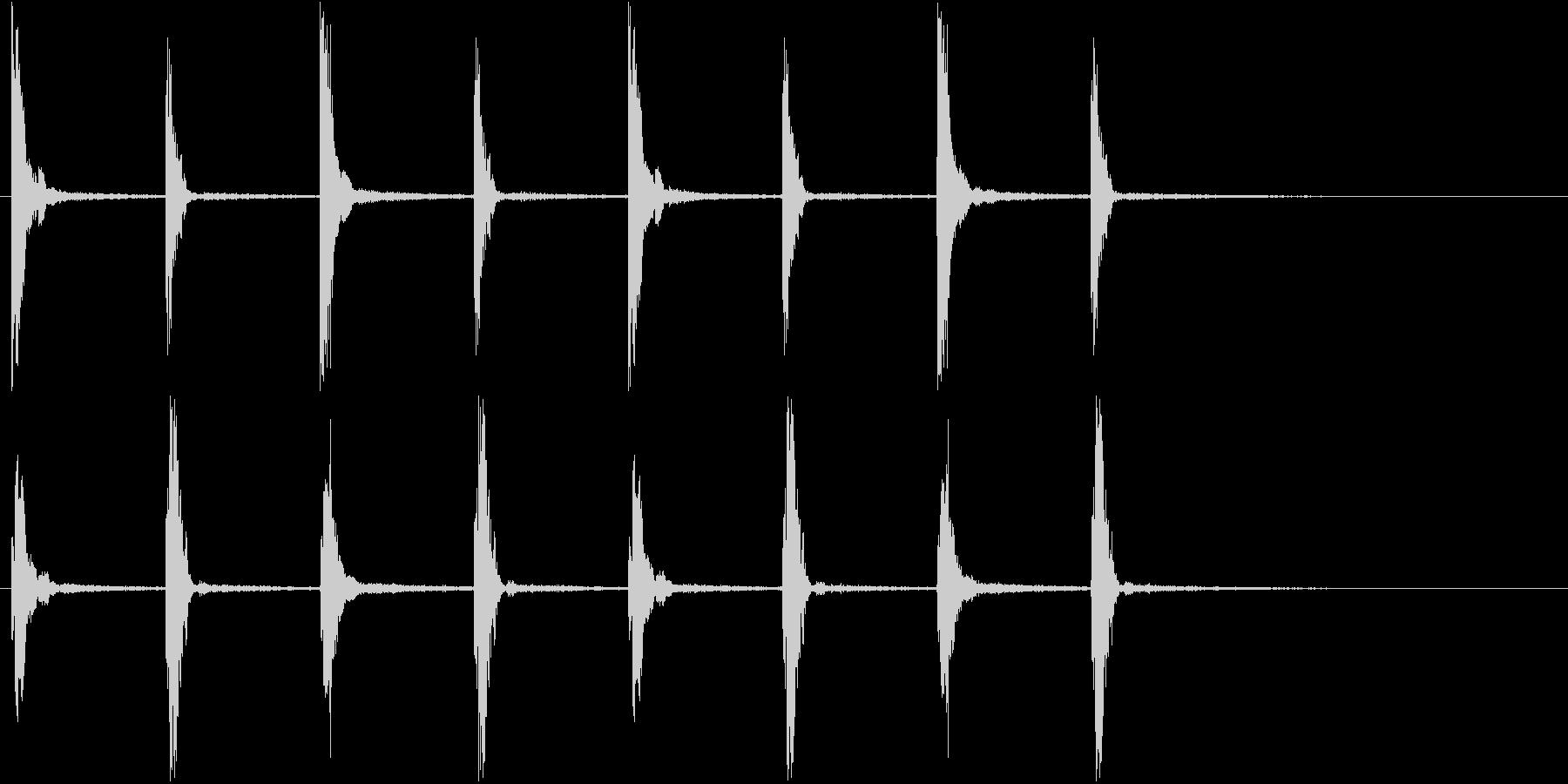 柱時計の音の未再生の波形