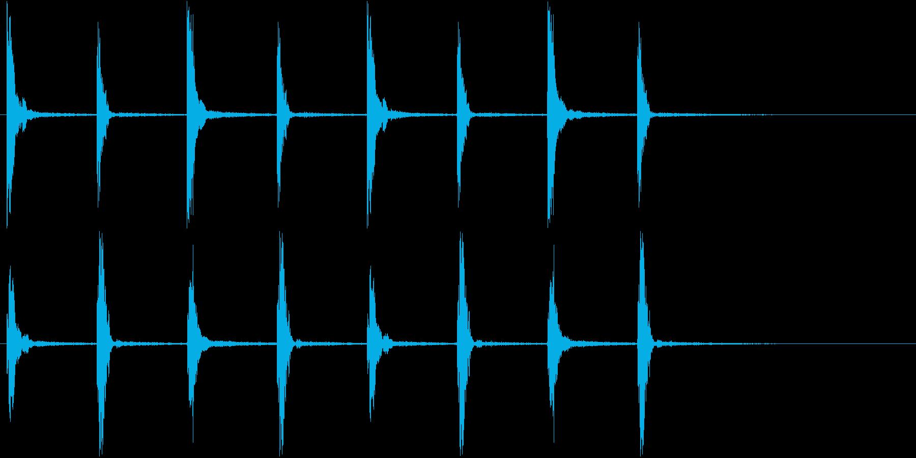 柱時計の音の再生済みの波形