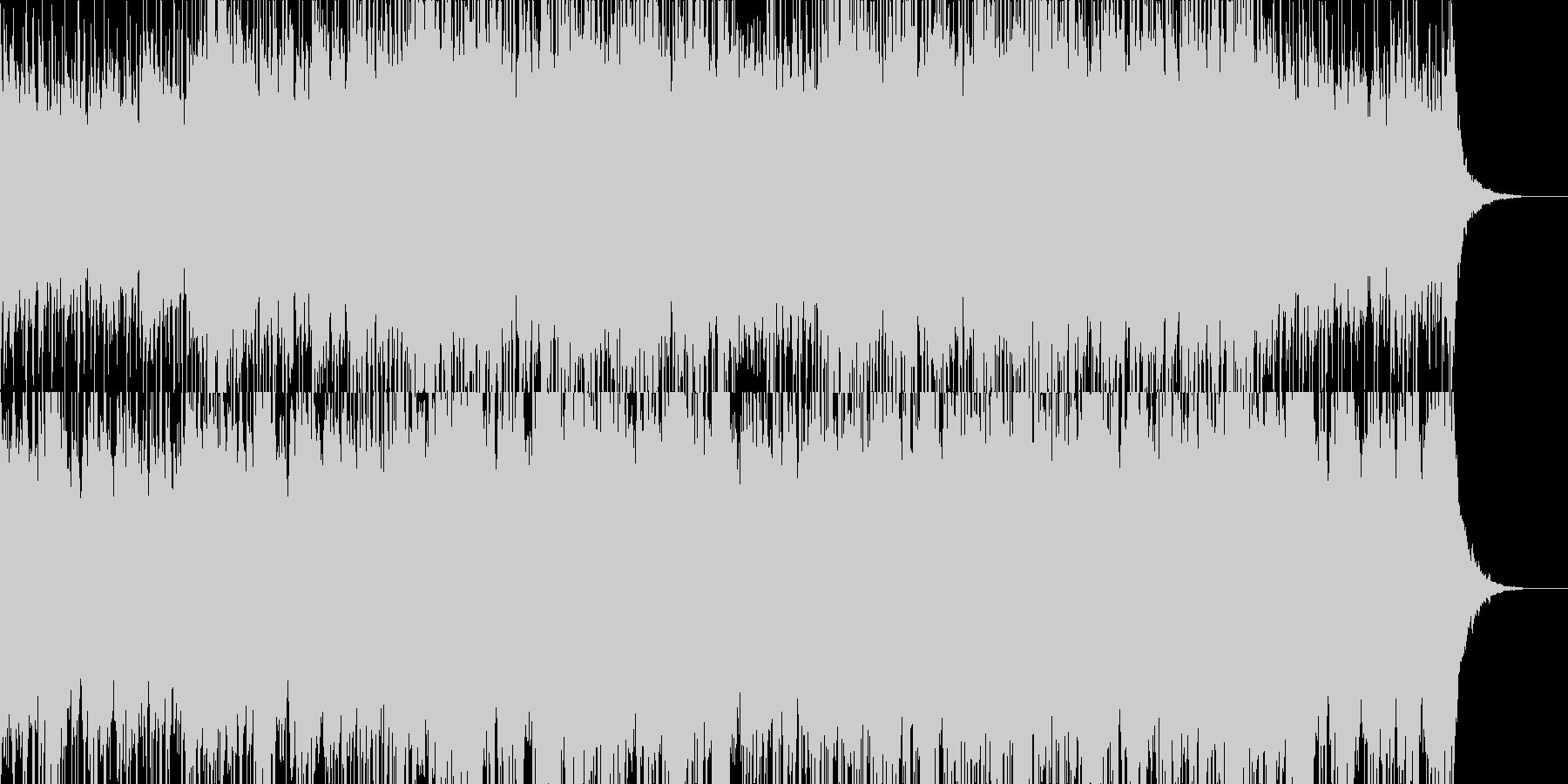 シンセとギターの神秘的なBGMの未再生の波形