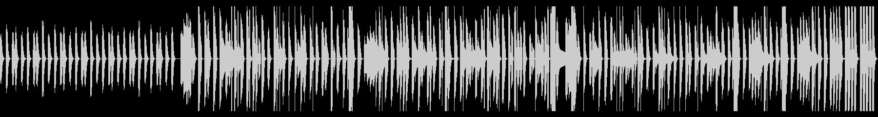 ピタゴラスイッチ風のボサノバピアノの未再生の波形