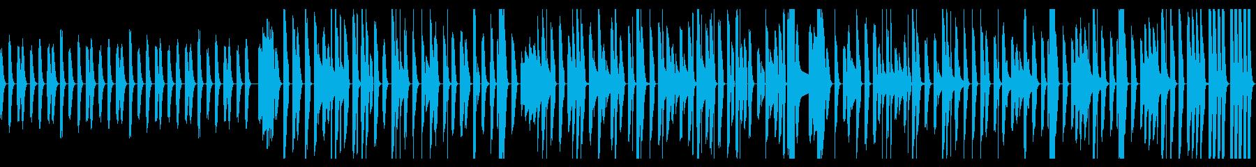 ピタゴラスイッチ風のボサノバピアノの再生済みの波形