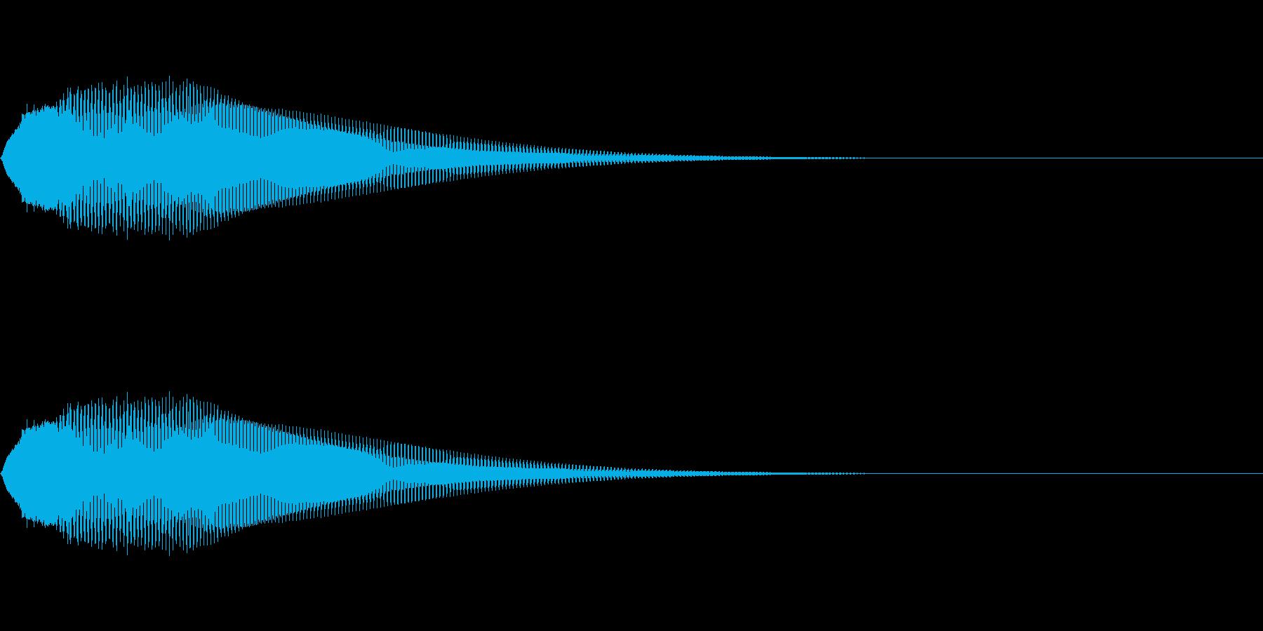お知らせ音05の再生済みの波形