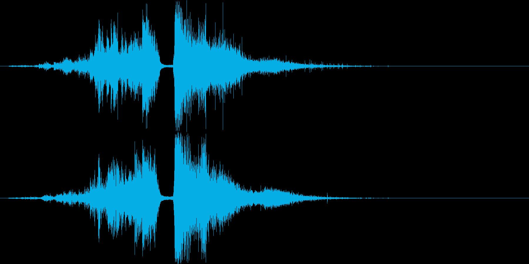 水魔法の音1(巨大な水の球をぶつける)の再生済みの波形
