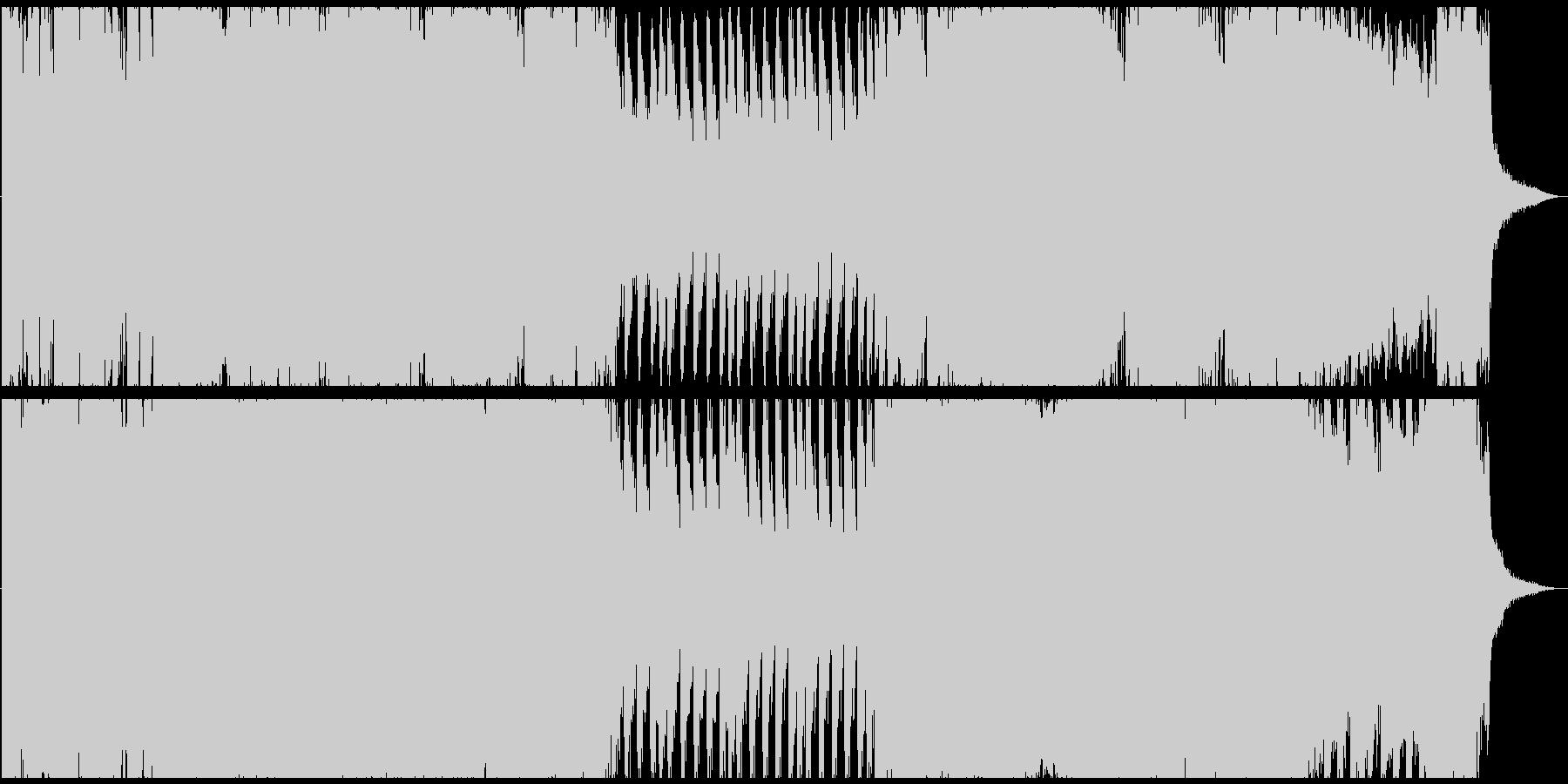 フラメンコテイストの迫力あるオーケストラの未再生の波形