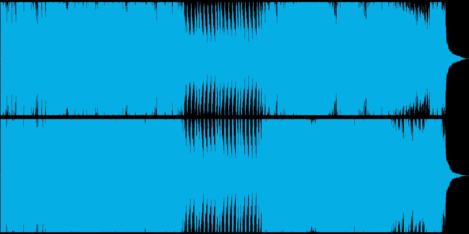 フラメンコテイストの迫力あるオーケストラの再生済みの波形