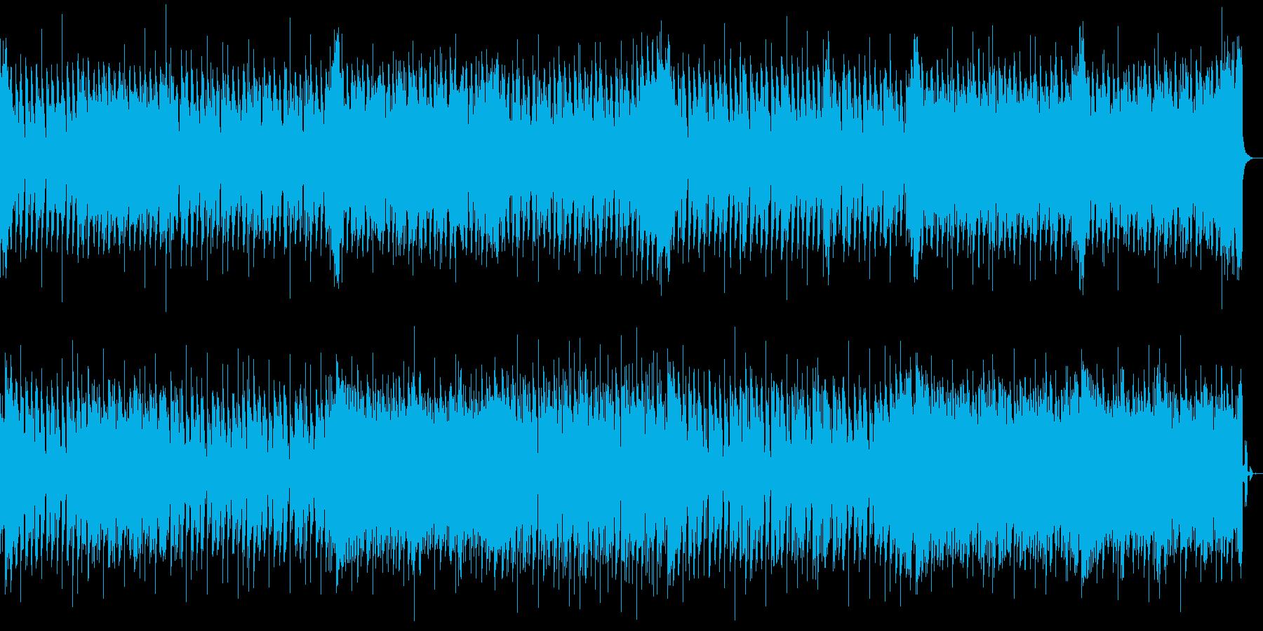 ピッチ補正のかかった音声が特徴のBGMの再生済みの波形