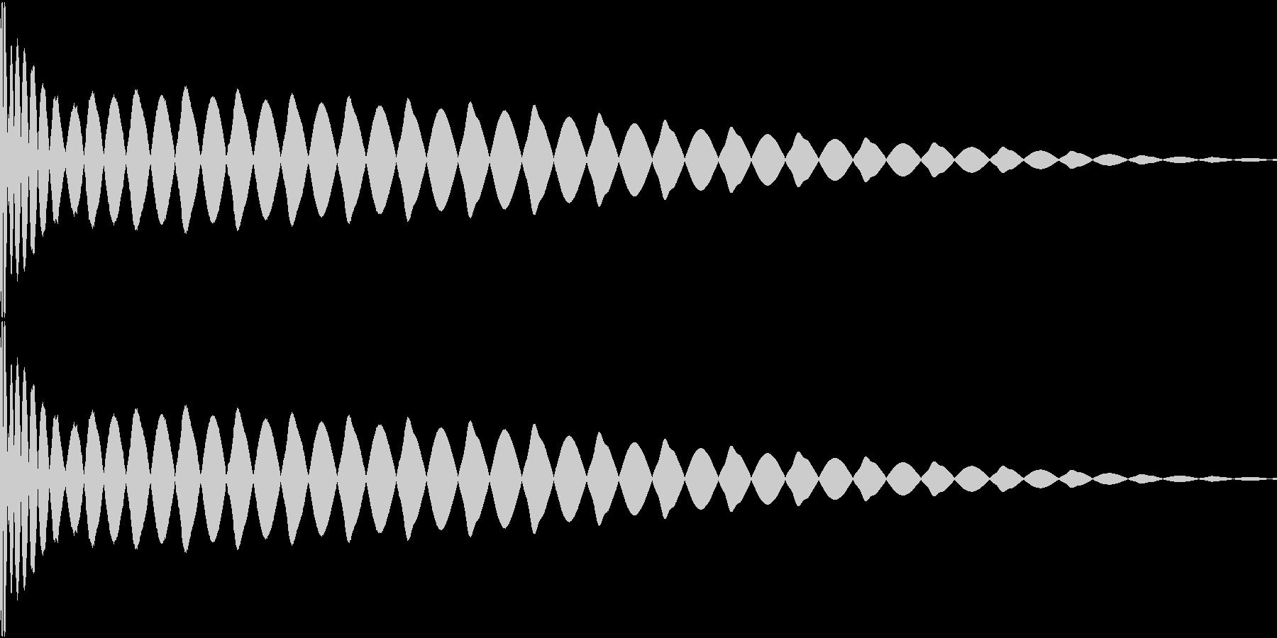 DTM Kick 91 オリジナル音源の未再生の波形