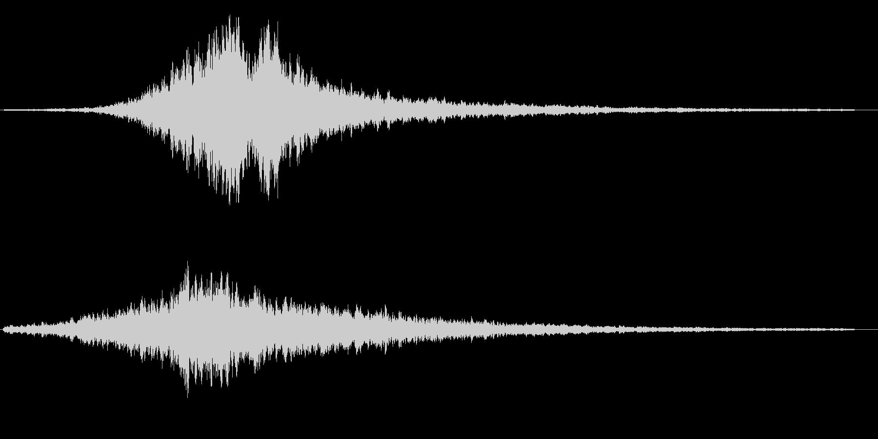 ヒューウーン(鋭くシンプルな効果音)の未再生の波形
