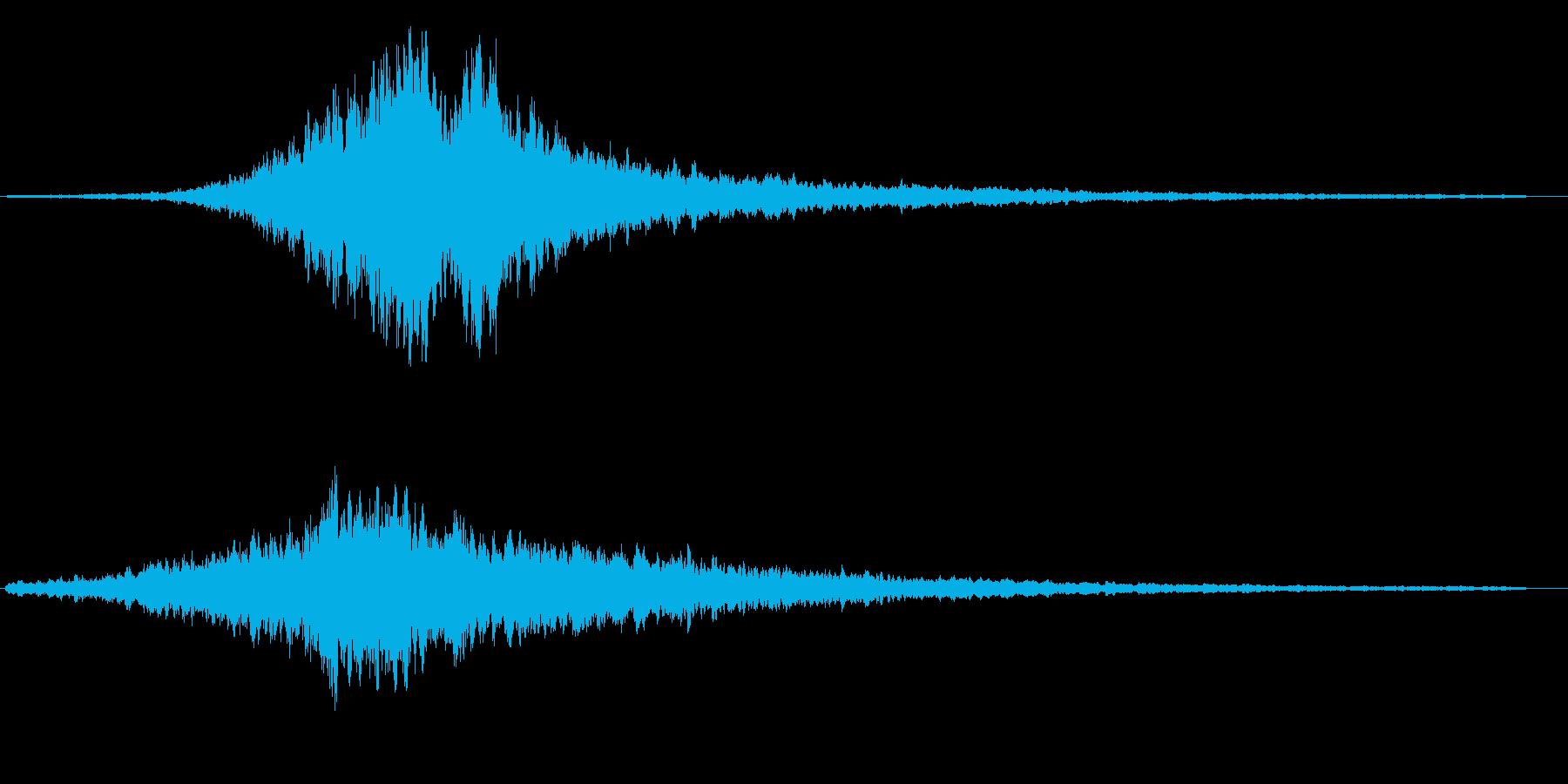 ヒューウーン(鋭くシンプルな効果音)の再生済みの波形