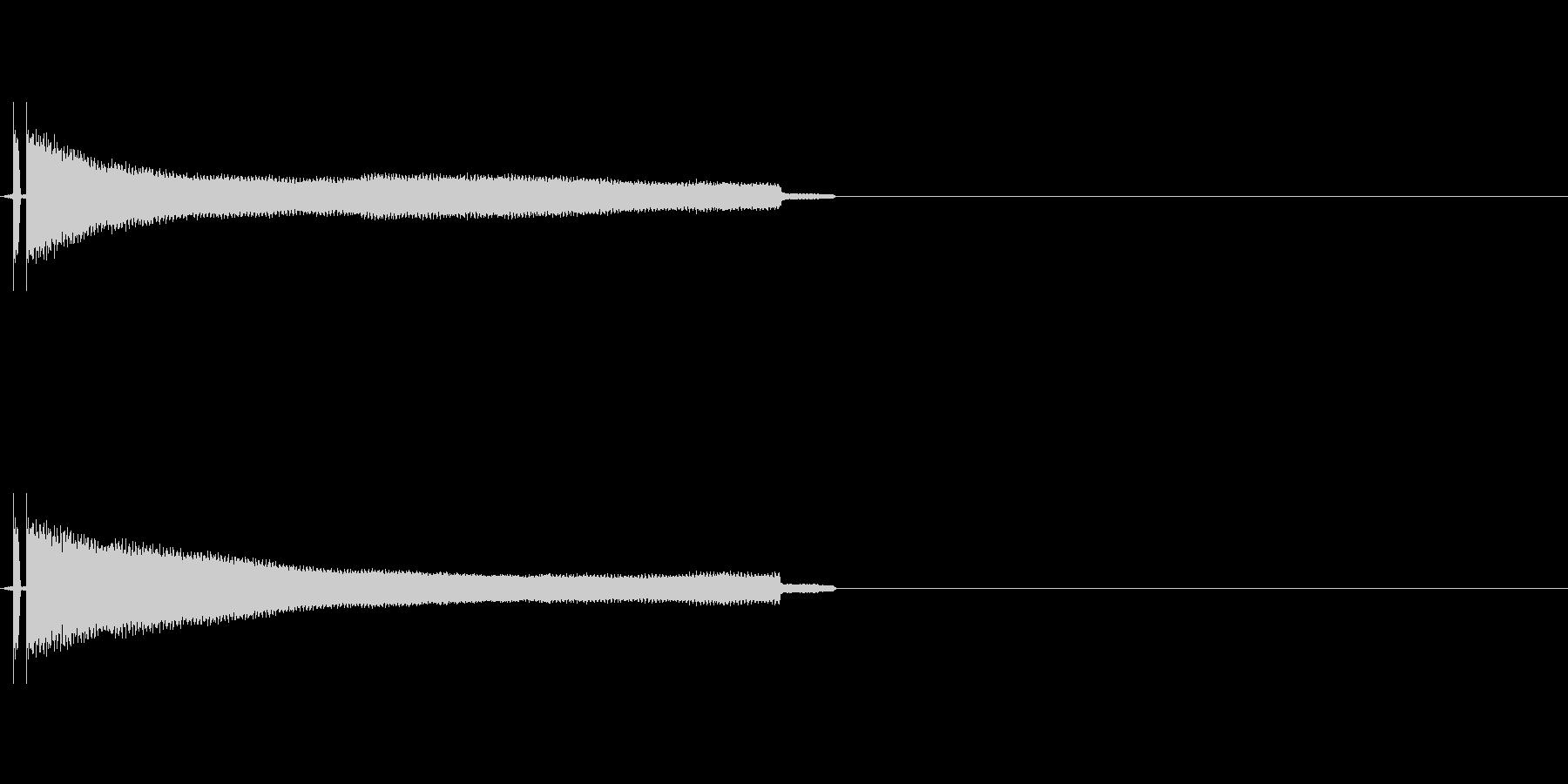 キーン 耳鳴りの音の未再生の波形