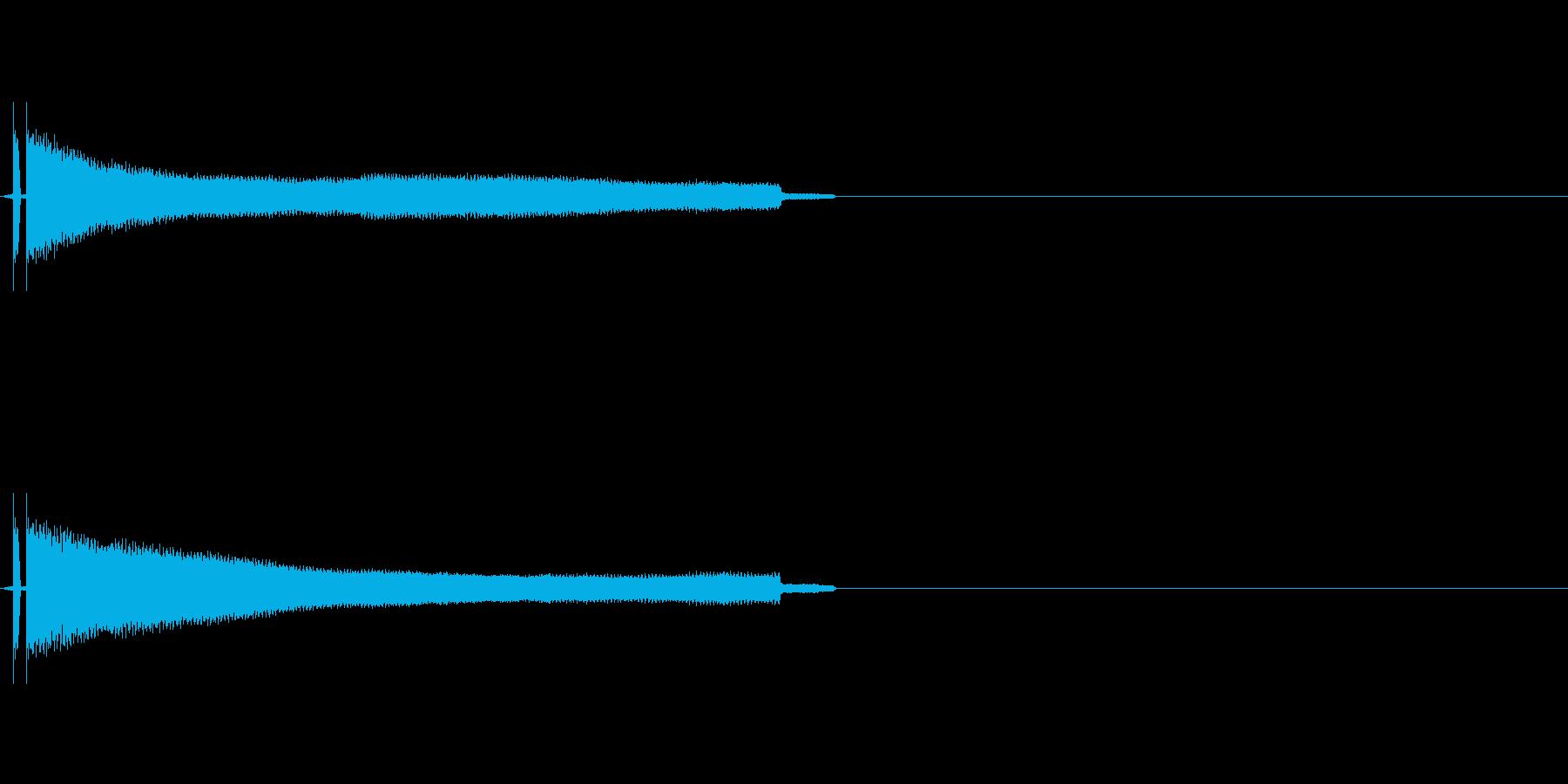 キーン 耳鳴りの音の再生済みの波形