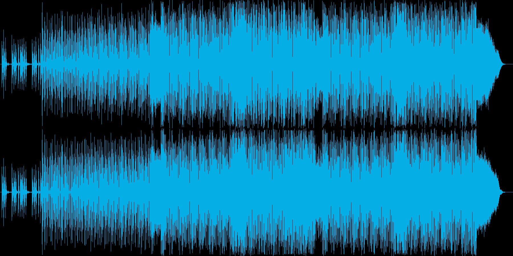 弾むような金属的な音の連続の再生済みの波形