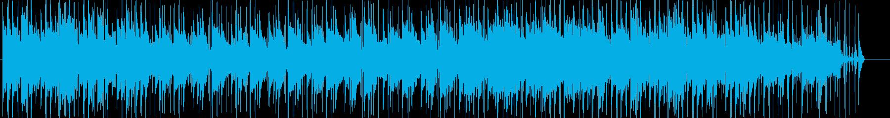 いきいきとしたスローなポップの再生済みの波形