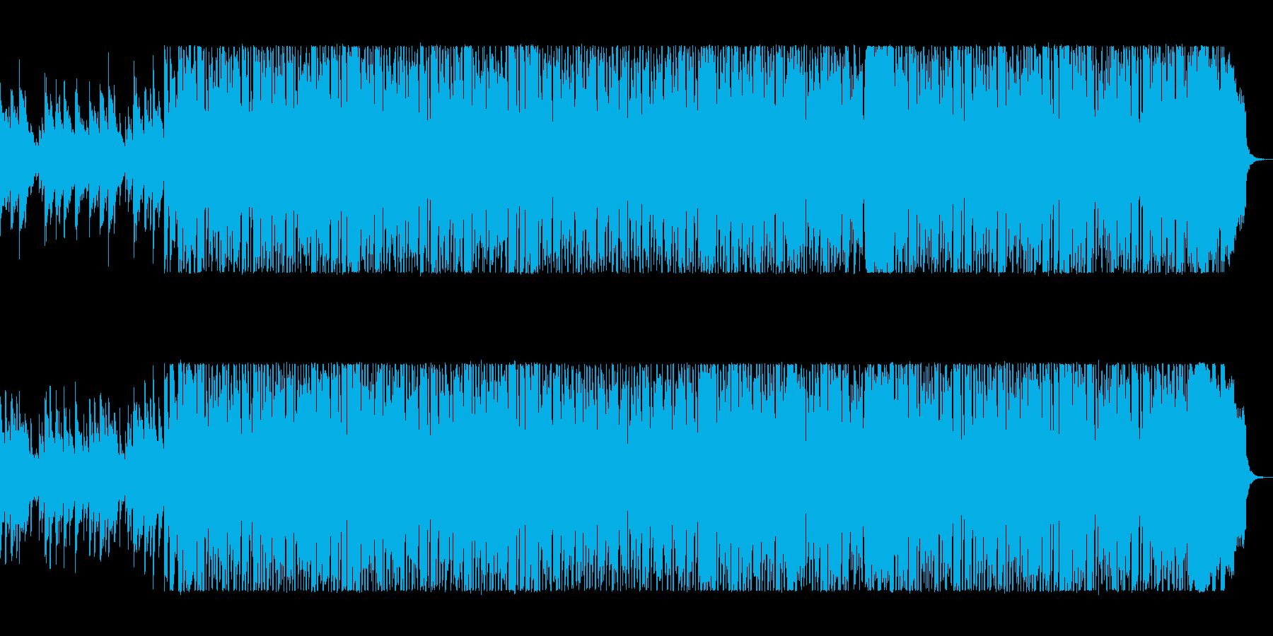 90年代Jポップ風の踊れるポップスの再生済みの波形