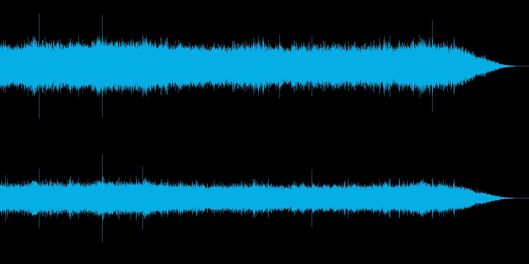 町中の雨音(環境音)の再生済みの波形