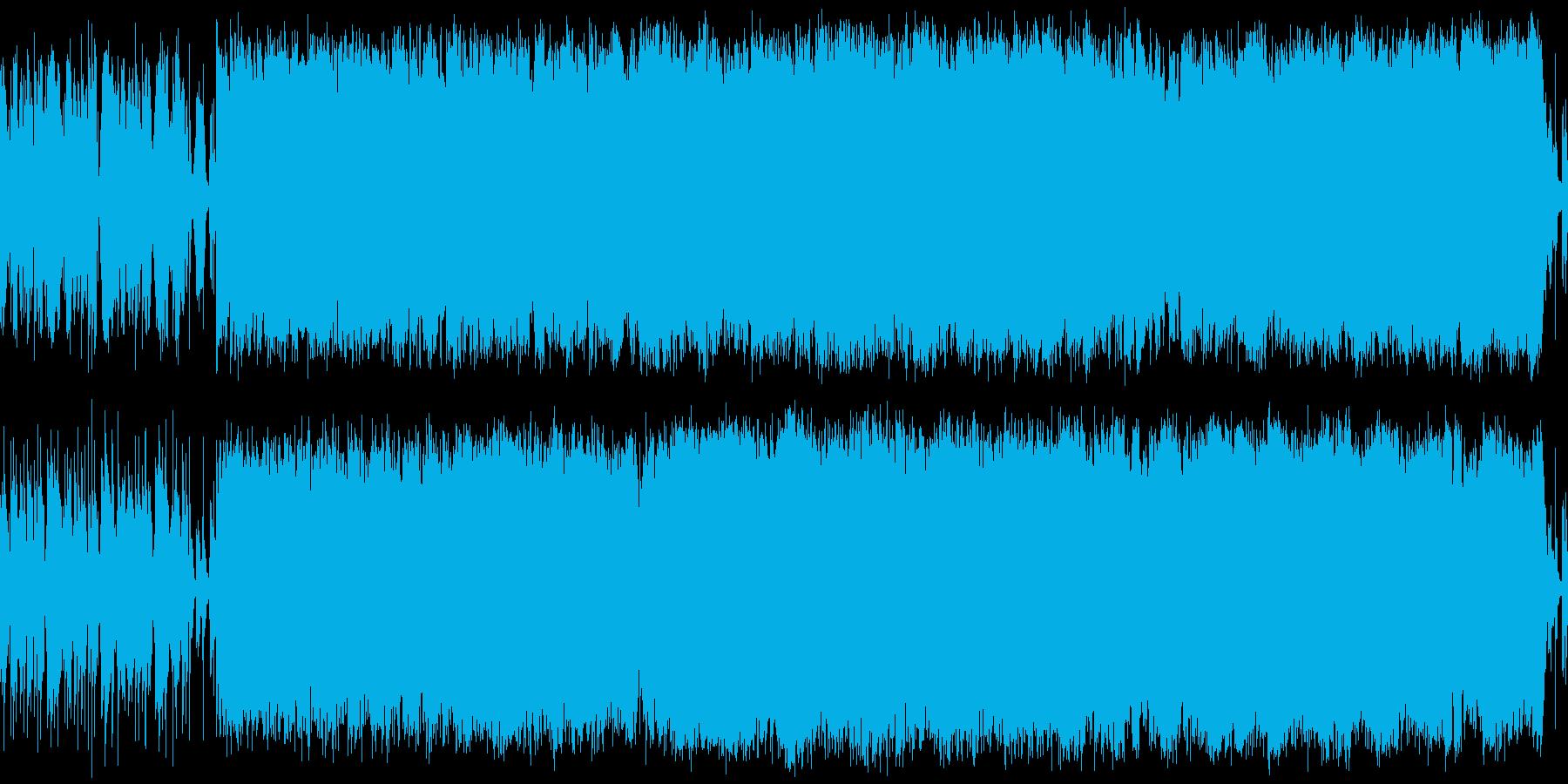 シリアス、緊迫感のあるサントラ風BGMの再生済みの波形
