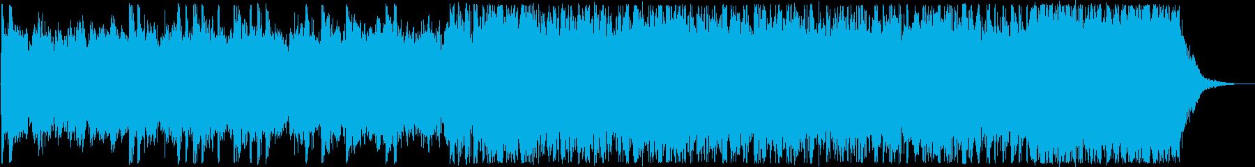 ハードロック、ヘビーメタル25秒ジングルの再生済みの波形