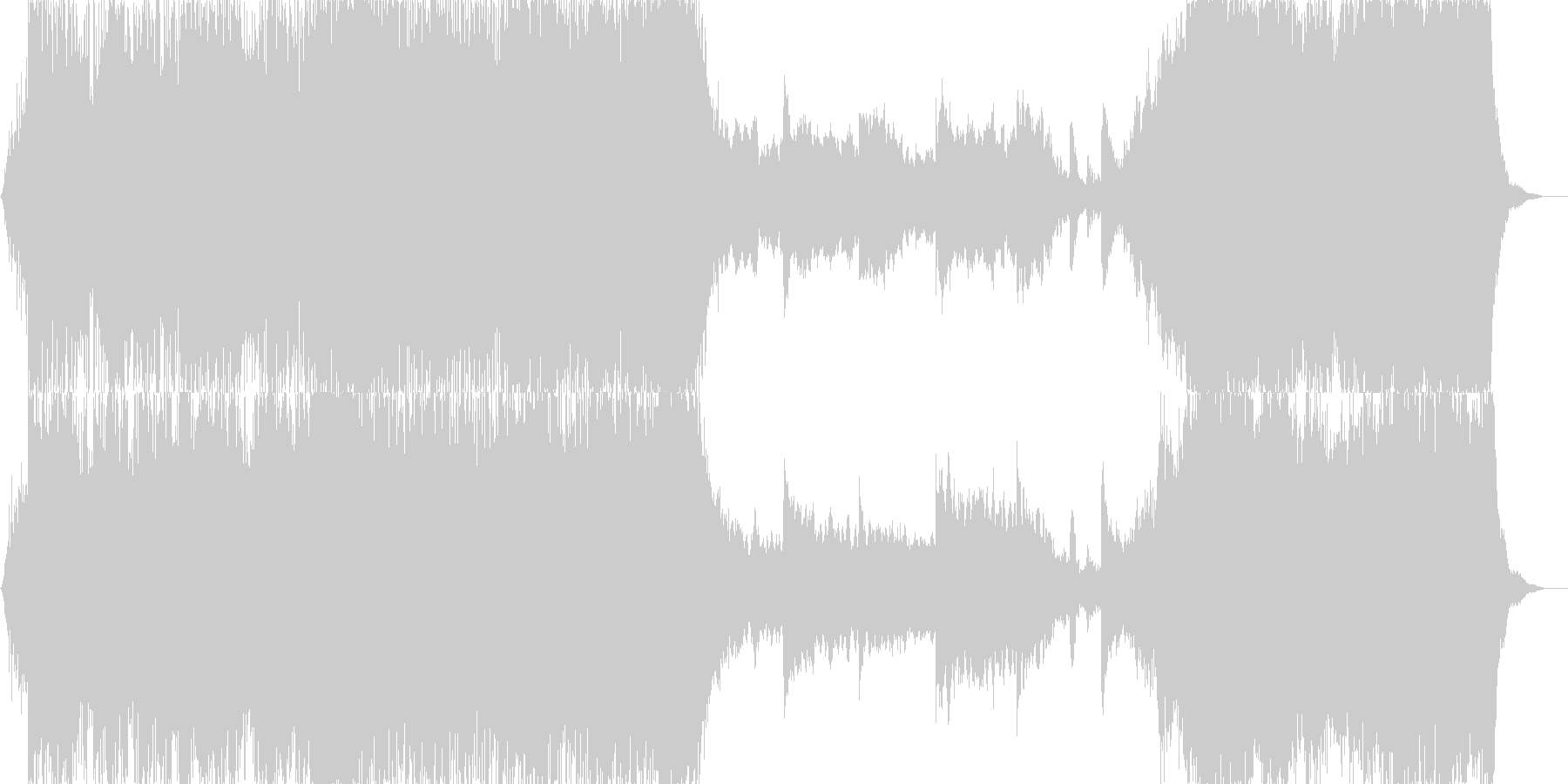 日本的なイメージのパーカッシブなBGMの未再生の波形