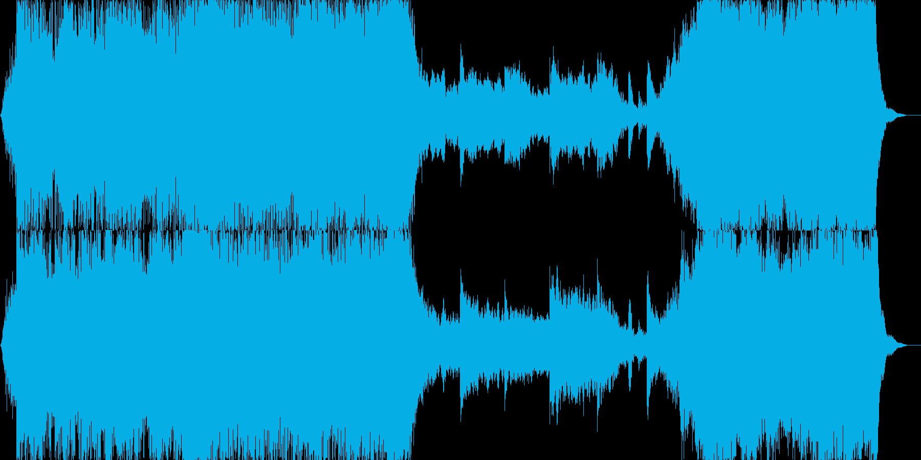 日本的なイメージのパーカッシブなBGMの再生済みの波形
