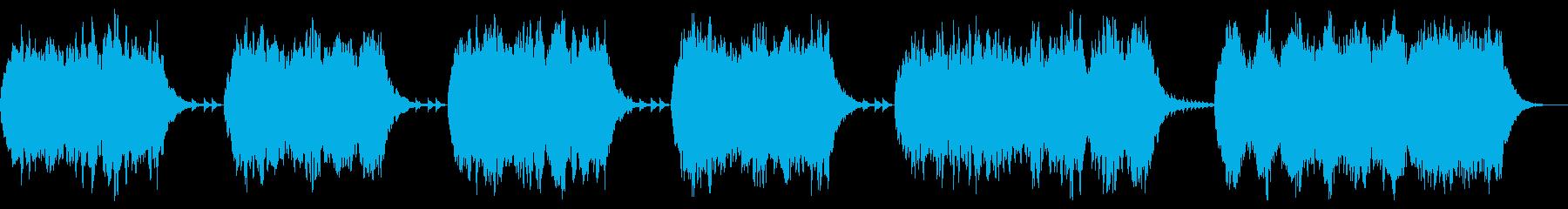 終焉、終末を彷彿とさせるダークなBGMの再生済みの波形