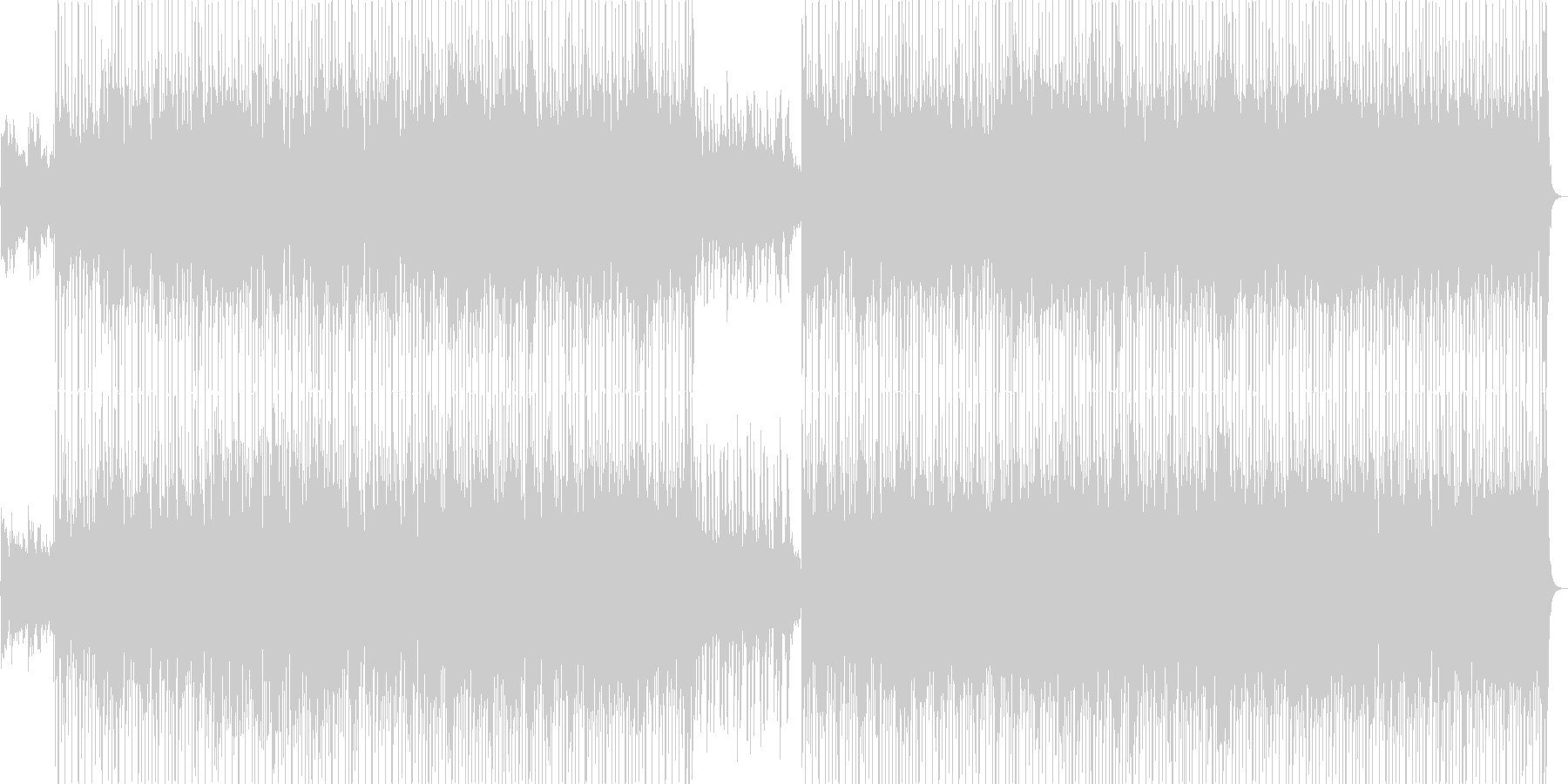 おしゃれなピアノ・シンセなどポップの未再生の波形