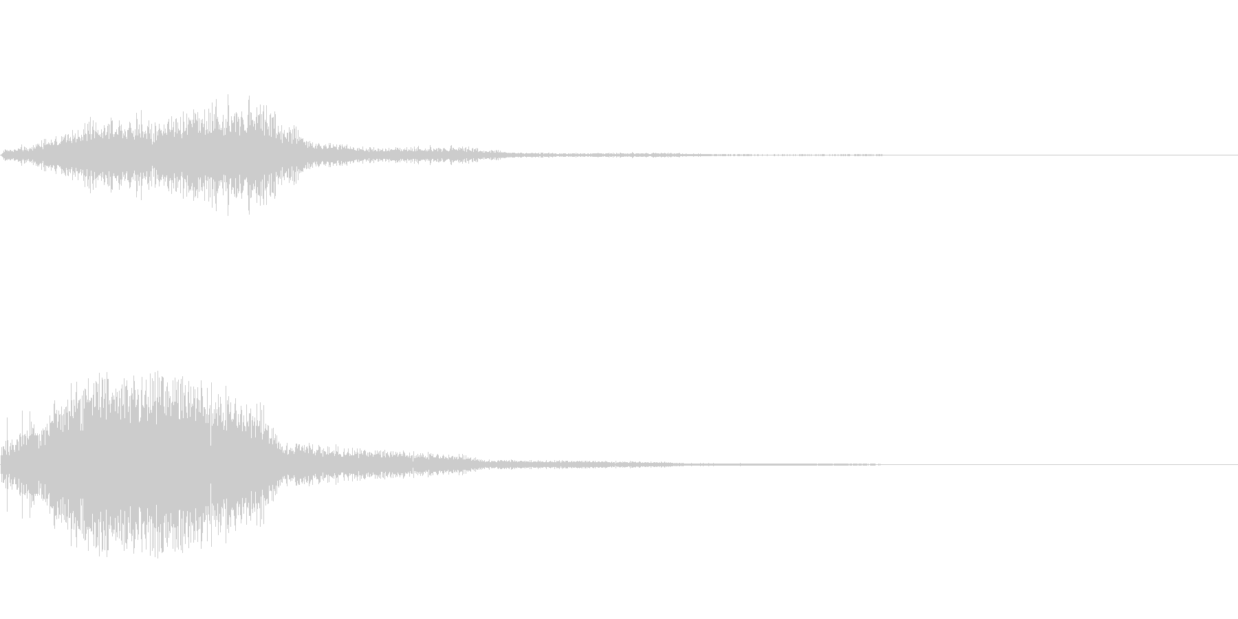 ホイッ(巻き戻し)の未再生の波形