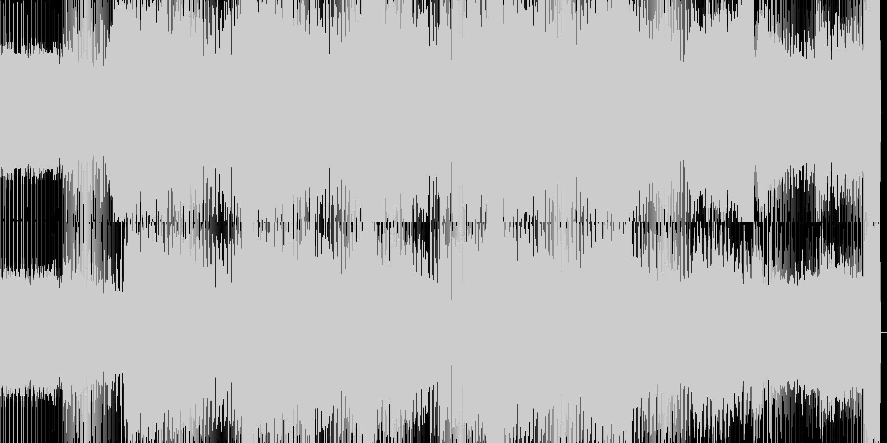 ダンスフロアをイメージするテクノBGMの未再生の波形