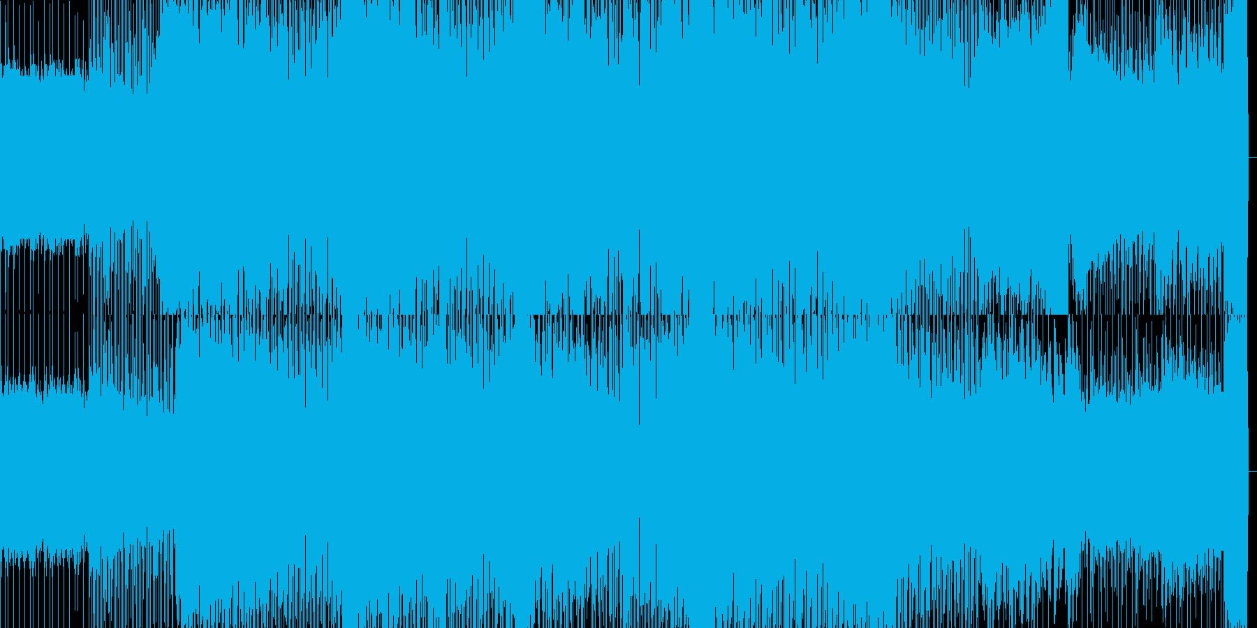 ダンスフロアをイメージするテクノBGMの再生済みの波形