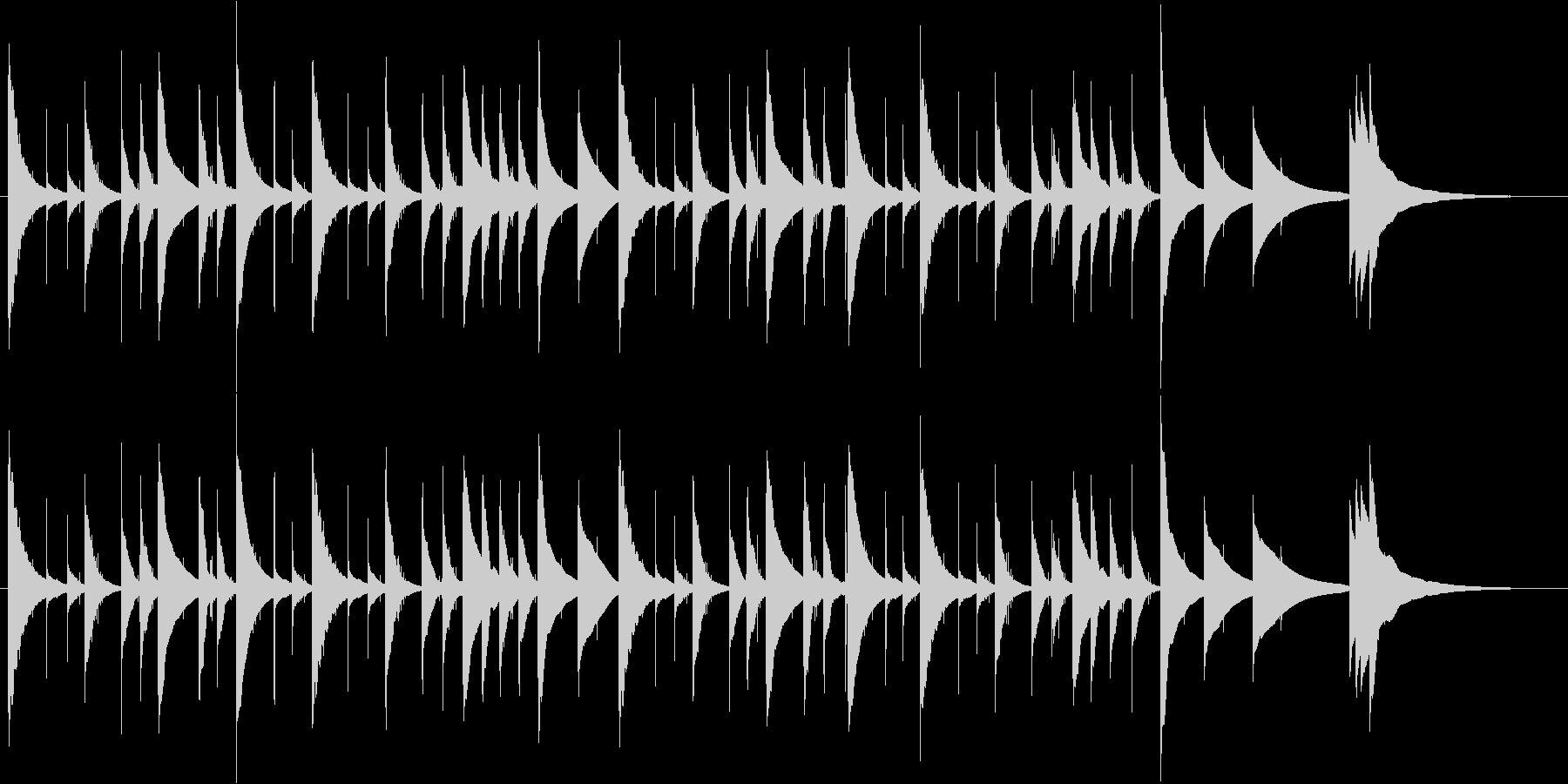 かなりゆっくりなオルゴール曲ですの未再生の波形