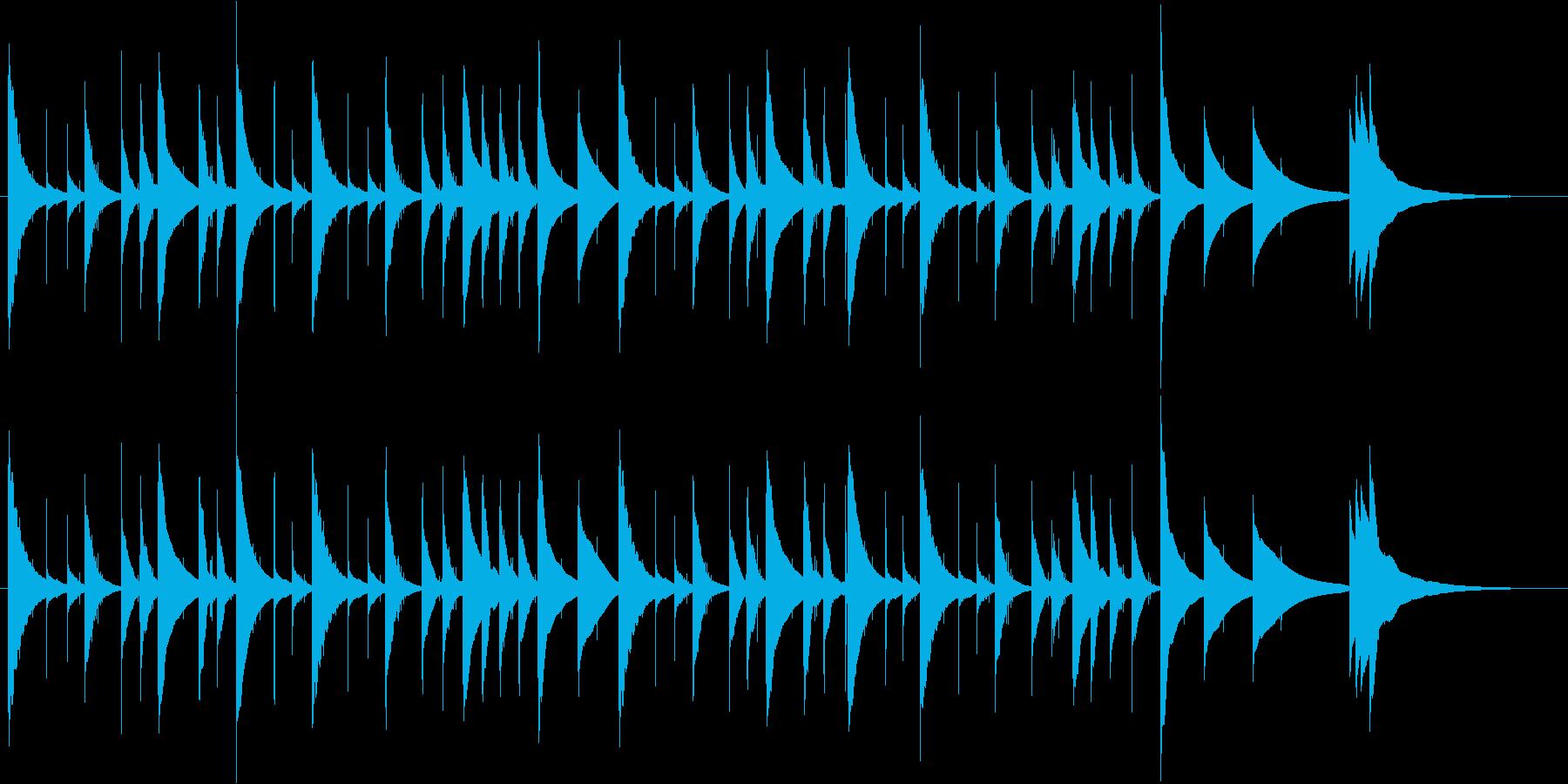かなりゆっくりなオルゴール曲ですの再生済みの波形
