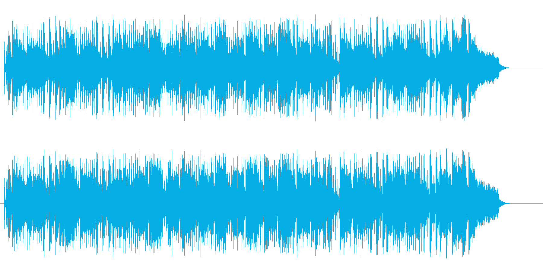 爽やかにはじけるストレート・ポップスの再生済みの波形