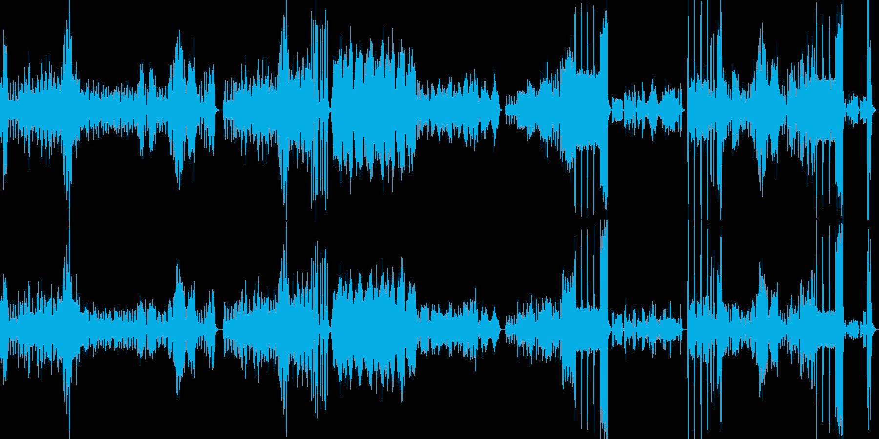軽快→かわいらしい→激しい…と変化する曲の再生済みの波形