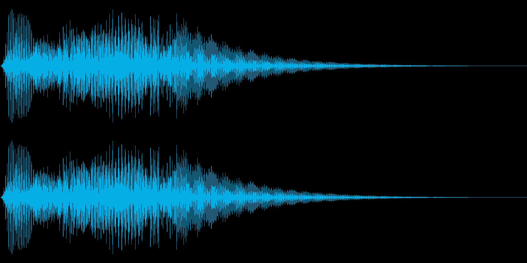 ボタン押下や決定音_キュポン!の再生済みの波形