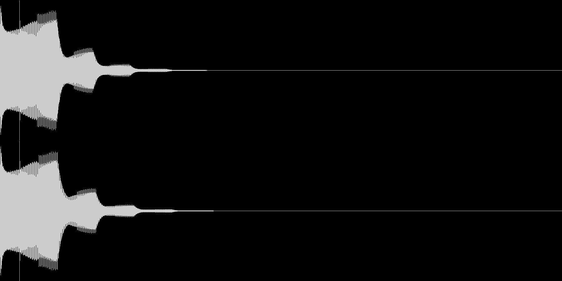 決定音22(シンセ)の未再生の波形